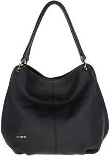 Темно-синяя сумка из мягкой кожи Fiato