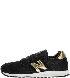 Черные кроссовки из текстиля и замши 520 New Balance