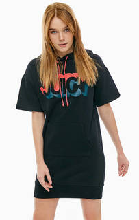 Короткое трикотажное платье в спортивном стиле Juicy by Juicy Couture