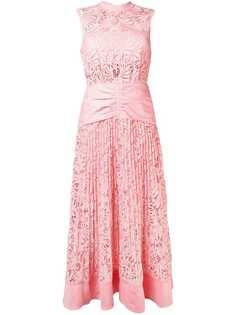 Self-Portrait кружевное платье с цветочным узором