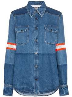 Calvin Klein 205W39nyc джинсовая рубашка с полосками и эффектом обесцвечивания