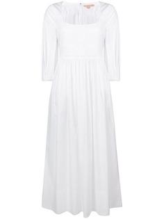 Brock Collection длинное платье с квадратным вырезом