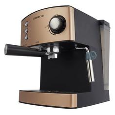 Кофеварка POLARIS CM 1527E Adore Crema, эспрессо, бронзовый / черный