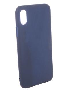 Аксессуар Чехол для APPLE iPhone X Pero Soft Touch Blue PRSTC-IXBL ПЕРО