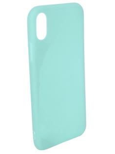 Аксессуар Чехол для APPLE iPhone X Pero Soft Touch Turquoise PRSTC-IXC ПЕРО