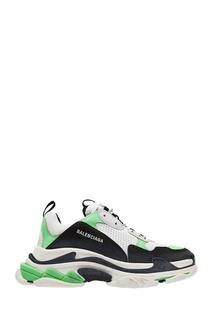 Комбинированные кроссовки оверсайз Triple S Balenciaga Man