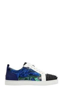 Разноцветные кроссовки с шипами Louis Junior Spikes Orlato Christian Louboutin