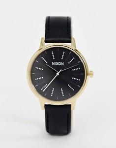 Часы с кожаным ремешком Nixon Kensington - 37 мм - Черный