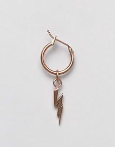 Золотистые серьги-кольца с молнией Simon Carter - Золотой