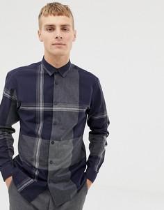 Зауженная рубашка в клетку Selected Homme - Темно-синий
