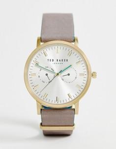 Часы с кожаным ремешком Ted Baker Brit - Серый