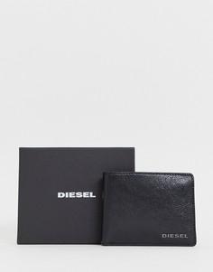 Черный кожаный кошелек Diesel - Черный