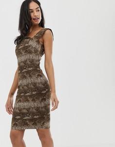 Платье мини с леопардовым принтом City Goddess - Мульти