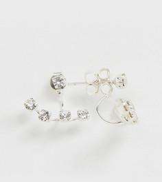 Серебряные серьги с камнем Kingsley Ryan - Серебряный