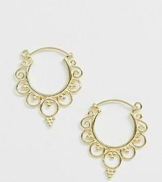 Позолоченные серебряные серьги-кольца Kingsley Ryan - Золотой
