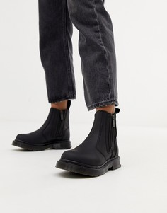 Черные кожаные ботинки челси Dr Martens 2976 Alyson - Черный