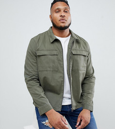 Куртка-рубашка на молнии с карманами Another Influence PLUS - Зеленый