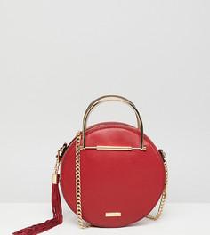 Красная круглая сумка через плечо с золотистой ручкой ALDO - Красный