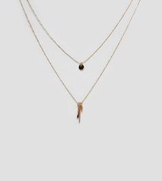 Золотистое ярусное ожерелье с подвесками ALDO - Золотой