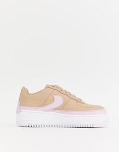 Кроссовки бежевого и розового цвета Nike Air Force 1 Jester - Мульти