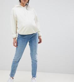 Синие выбеленные джинсы бойфренда ASOS DESIGN Maternity - Синий