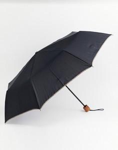 Черный телескопический зонт Paul Smith - Черный