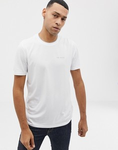 Белая футболка с логотипом на груди Ted Baker - Белый