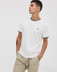 Белая футболка с контрастной отделкой Fred Perry - Белый
