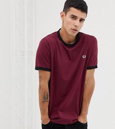 Бордовая приталенная рубашка Fred Perry - Красный