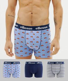 Набор из 3 боксеров-брифов Ellesse - Синий