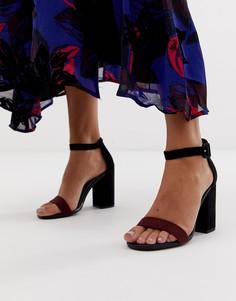 Босоножки на блочном каблуке New Look - Красный