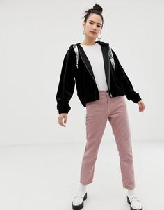 Вельветовые джинсы с завышенной талией Dr Denim Pepper - Розовый