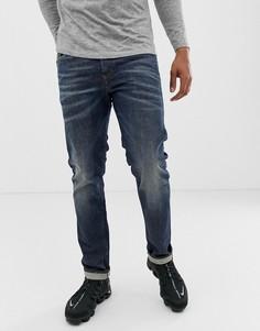 Узкие выбеленные джинсы Diesel Buster 084ZU - Синий