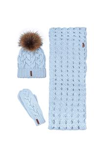 Комплект:шапка,шарф,варежки Sava Mari