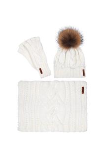 Комплект:шапка,снуд,митенки Sava Mari