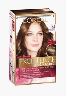 """Краска для волос LOreal Paris LOreal """"Excellence"""", стойкая, 5.3, Светло-каштановый Золотистый"""