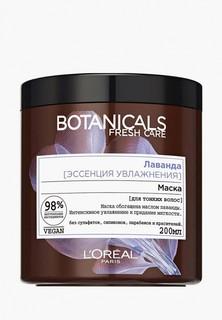 """Маска для волос LOreal Paris LOreal """"Botanicals, Лаванда"""", для тонких волос, увлажняющая, без парабенов, силиконов и красителей, 200 мл"""