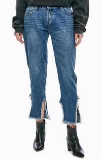 Синие джинсы с низкой посадкой Awesome Baggies One Teaspoon