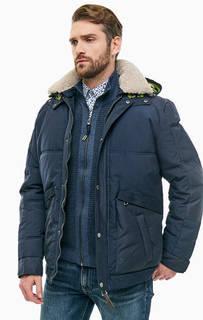 Зимняя куртка синего цвета с карманами Lerros