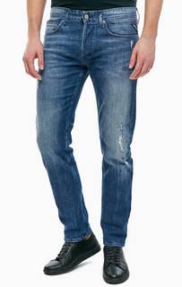 Рваные джинсы зауженного кроя Ronas Replay