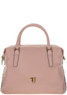 Розовая сумка с декором в виде шнуровки Trussardi Jeans