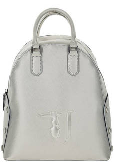 Серебристый рюкзак с короткими ручками Trussardi Jeans