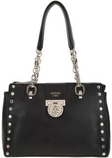 Черная сумка с металлической отделкой Guess