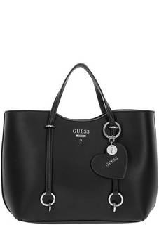Черная сумка со съемными ручками Guess
