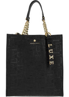Черная сумка с двумя отделами Guess
