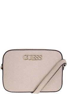 Маленькая сумка через плечо с тиснением Guess