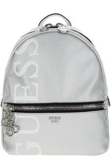 Серебристый рюкзак с широкими лямками Guess