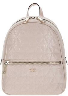 Стеганый рюкзак бежево-розового цвета Guess