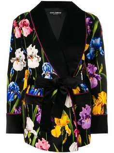 Dolce & Gabbana джинсы с цветочным принтом и поясом