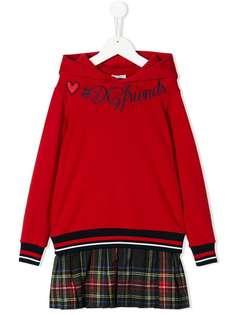Dolce & Gabbana Kids худи с вышивкой